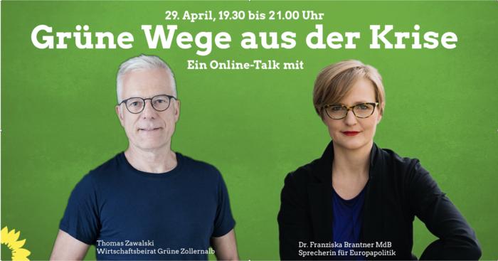 Politiker der Grünen Thomas Zawalski mit Franziska Brantner MdB.