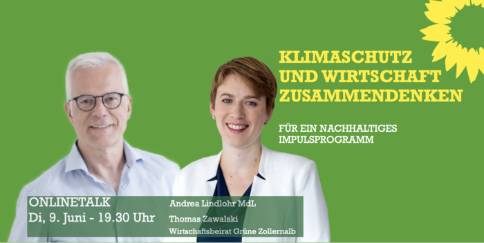Thomas Zawalski mit Wirtschaftspolitikerin Andrea Lindlohr MdL.