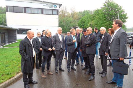 Besuch der Kläranlage in Balingen mit einer Grünen Delegation und Umweltminister Franz Untersteller.