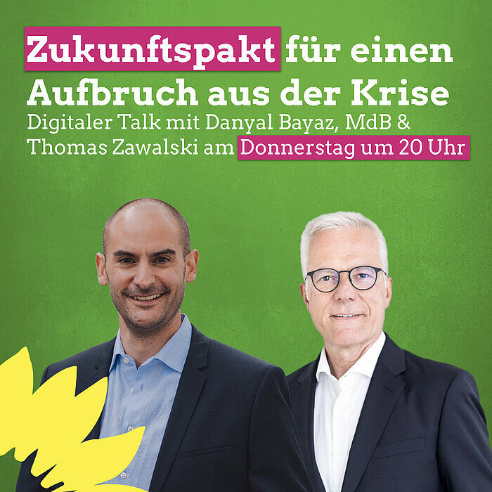 Thomas Zawalski mit Bundespolitiker Danyal Bayaz.