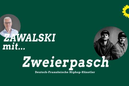 Thomas Zawalski mit Felix und Till Neumann von Zweierpasch.